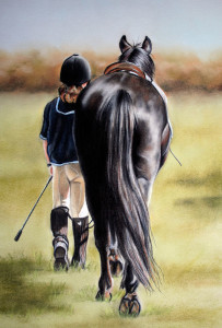 Debbie Goldring Pony Tail Painting