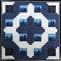 Ponies In Twilight horse quilt