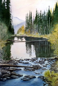 Mountain Stream painting